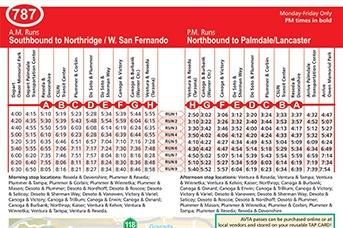 Route 787 - West San Fernando Valley